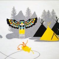 Zoom de sérigraphie, Body bio Aventure nord-américaine