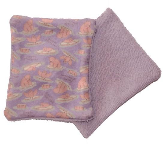 Lingettes lavables BIO rose BD