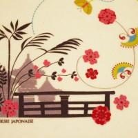 Détail sérigraphie, Body bio Poésie japonaise