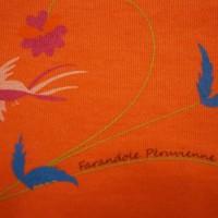 "Zoom sérigraphie ""Farandole péruvienne"""