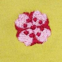 """Zoom broderie """"Fleur japonaise"""""""