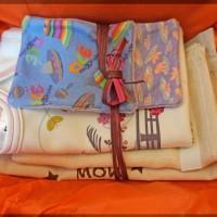 Kit de naissance enveloppé d'un doux papier de soie
