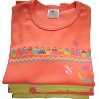 Une collection de T-shirts bio aux couleurs vives !