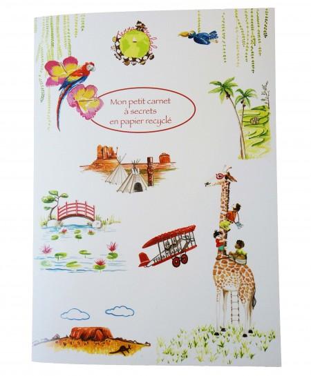 Couverture petit carnet à secrets papier recyclé